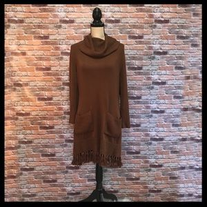 Soft Surroundings Montreux Fringe Tunic Sweater